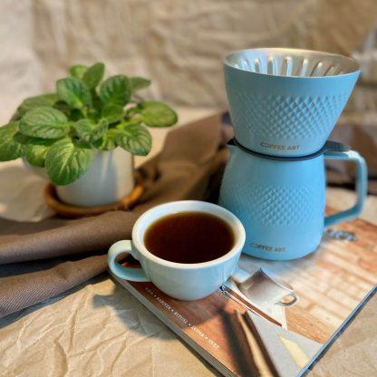 dripper set Coffee Art modrý